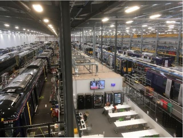 Hitachi train assembly plant at Newton Aycliffe.